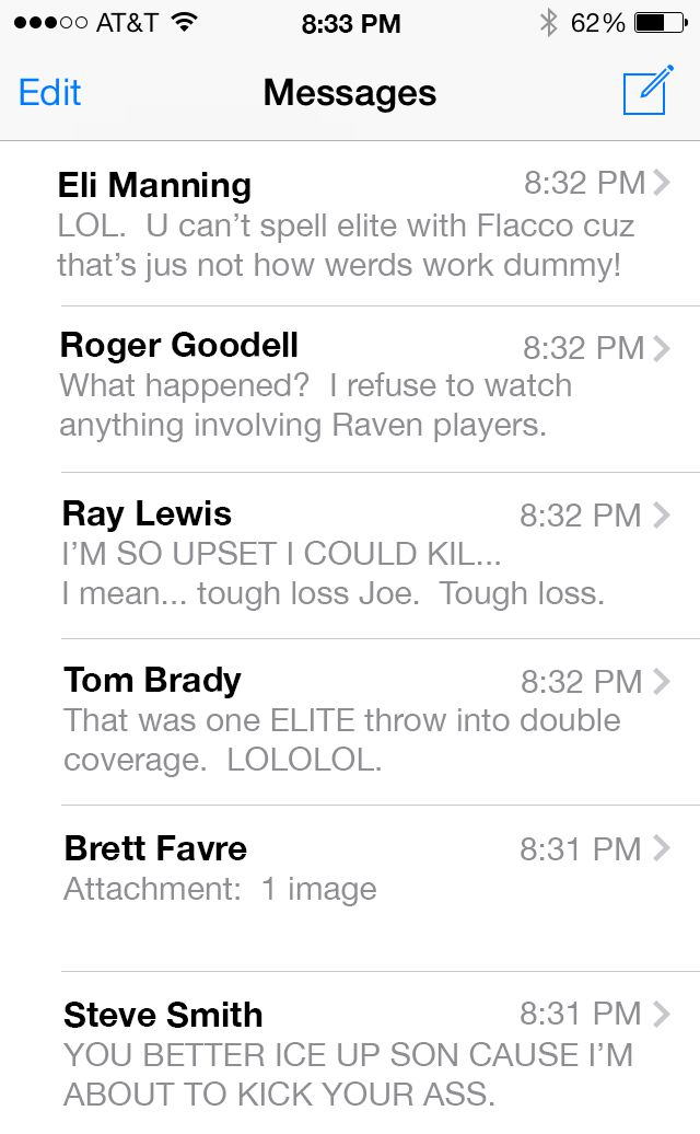Flacco Text Inbox