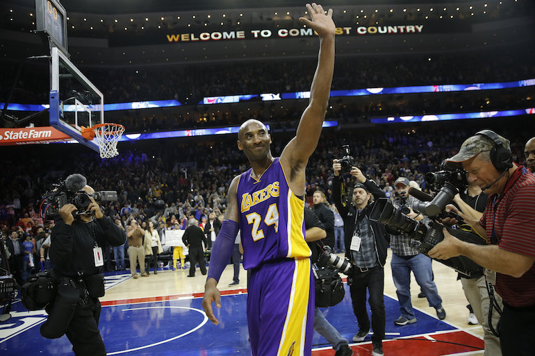 Kobe says goodbye