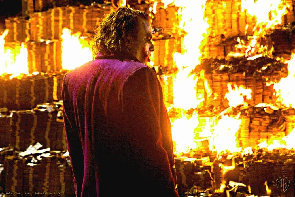 Joker Money Burning